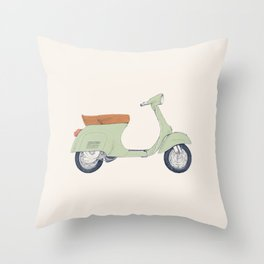 Italian Moto Throw Pillow