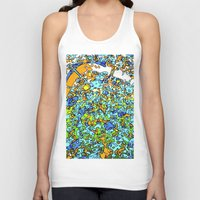 maps Tank Tops featuring Funky Maps, LONDON by MehrFarbeimLeben