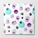 Trendy ultra violet circle pattern with watercolor and marbled texture by tinta6