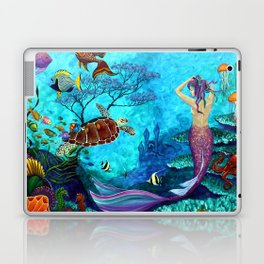 A Fish of a Different Color - Mermaid and seaturtle Laptop & iPad Skin