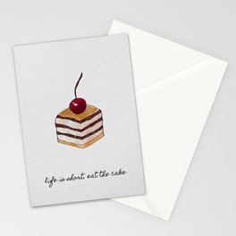 Life Is Short, Dessert Quote Stationery Cards