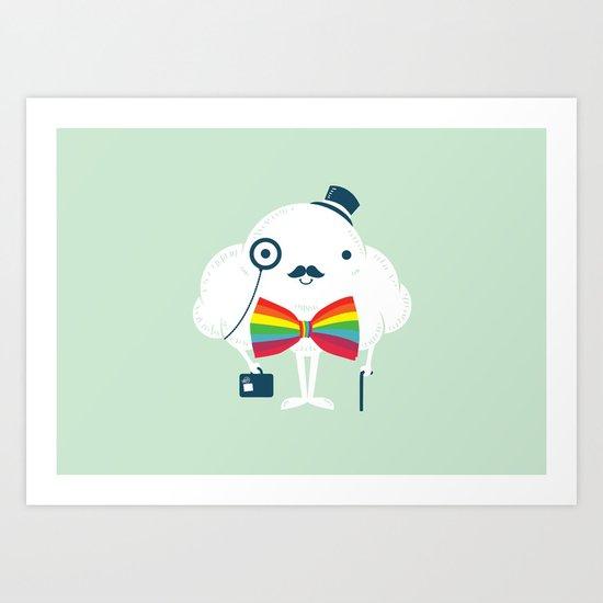 Rainbow-tie gentleman Art Print