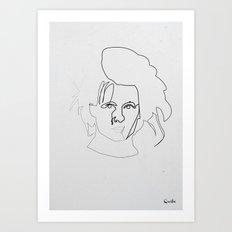 One line Edward Scissorhands Art Print