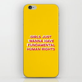 Girl Rights iPhone Skin