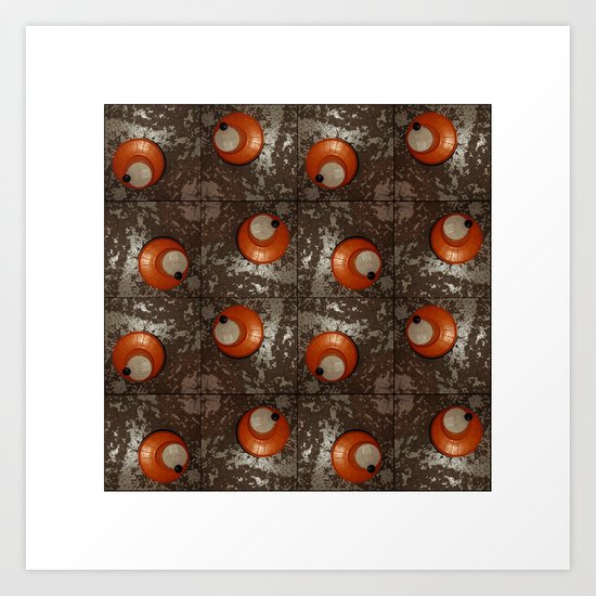 Salad Spinner Pattern Art Print