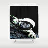interstellar Shower Curtains featuring Interstellar by Graziano Ventroni