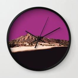 Marbella Orchid Wall Clock