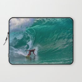 Surfing Double Overhead at the Wedge Laptop Sleeve