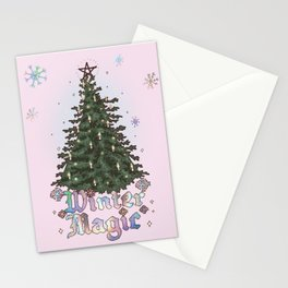 Winter Magic Tree Stationery Cards