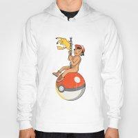 pokeball Hoodies featuring Wrecking Pokeball by KV.Art
