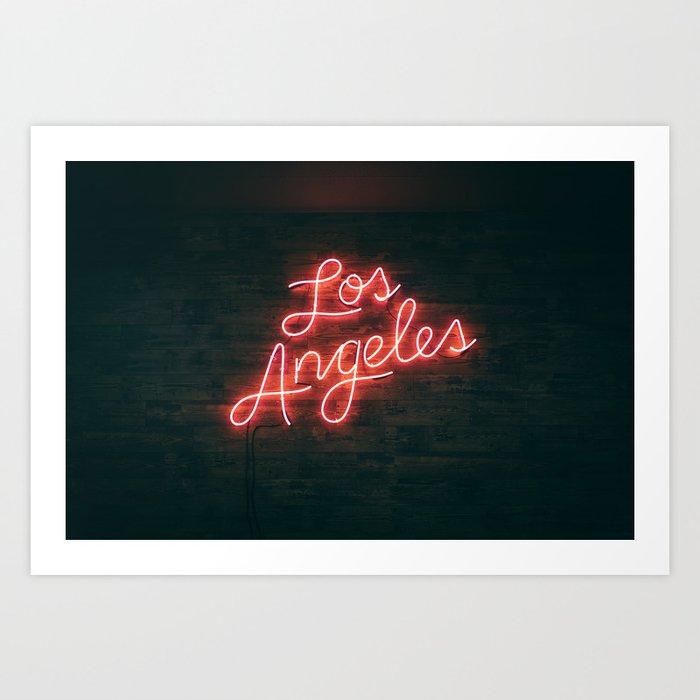 Los Angeles Neon Art Print