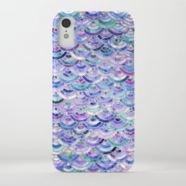 Marble Mosaic in Amethyst and Lapis Lazuli iPhone Case