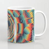 glitch Mugs featuring glitch by Blaz Rojs