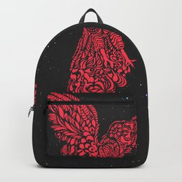 Gallito de las rocas peruvian bird red version by #Bizzartino Backpack