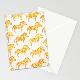 Zebras – Yellow Palette Stationery Cards