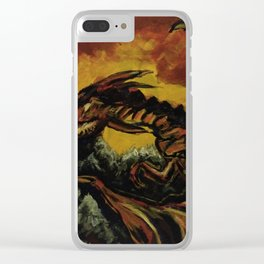 Fire on the Rocks Clear iPhone Case