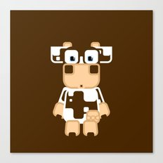 Super cute cartoon cow in brown and white - a moo-st have design for cow enthusiasts! Canvas Print