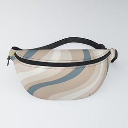 Pastel Blue and Coffee Stripes Fanny Pack