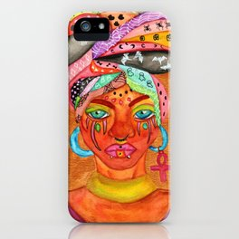 African Women with Halloween Head Scarf iPhone Case