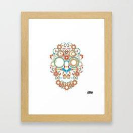 00 - STEAMPUNK SKULL Framed Art Print