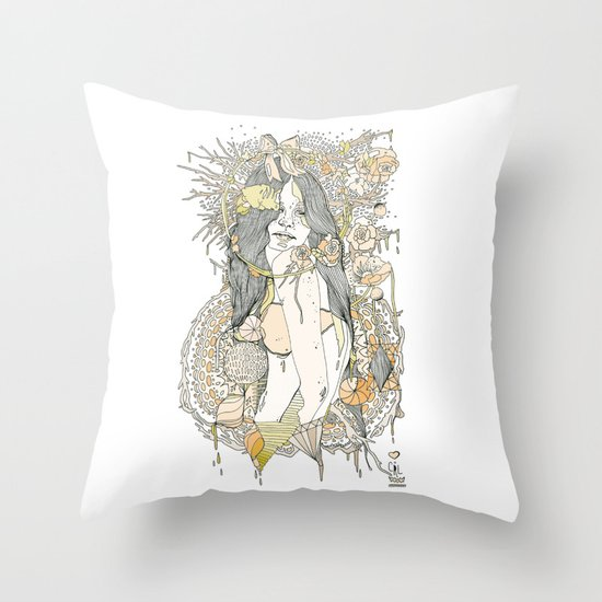 //blossom// Throw Pillow