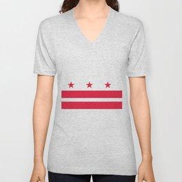 Flag of Washington City Unisex V-Neck
