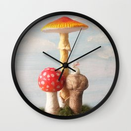 The Poetic Rabbit digital image 2  Wall Clock