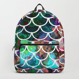Fish Scales & Rainbow Colors Backpack