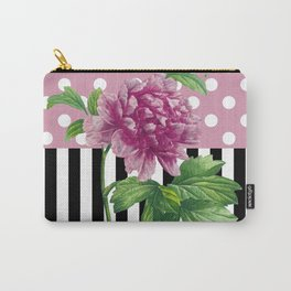 Artsy Pink Peony Carry-All Pouch