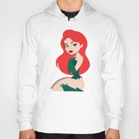 selena Hoodies featuring Poison Ivy Pin-Up  by Lauren C Skinner