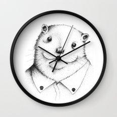 Cute Otter ! Wall Clock