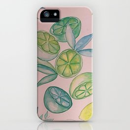 pink limeade: When Life Gives You Limes iPhone Case