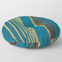 Yellow lines into the sky Floor Pillow