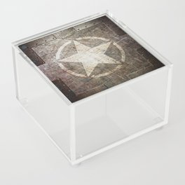 Army Star on Distressed Riveted Metal Door Acrylic Box