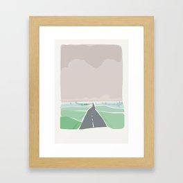 Road to Lagom Framed Art Print