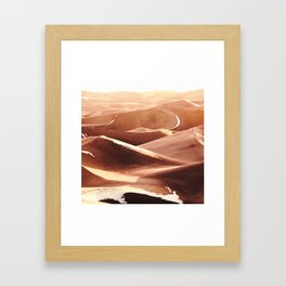 Cold Dunes Framed Art Print