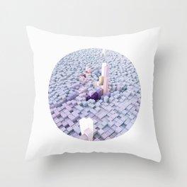White coating Throw Pillow