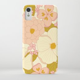 Pink Pastel Vintage Floral Pattern iPhone Case