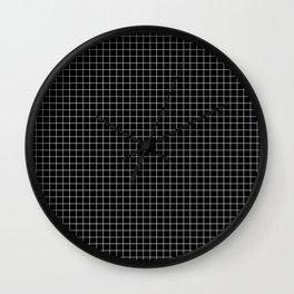 Black Grid Wall Clock