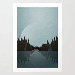 That Night in the Clearing Art Print