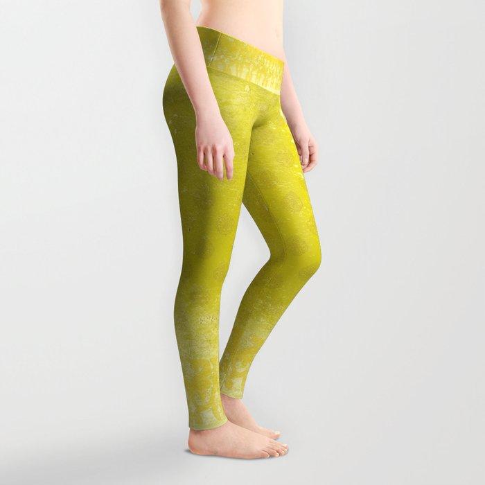 Fall Citron Leaves Leggings