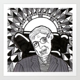 Stephen Hawkings Art Print