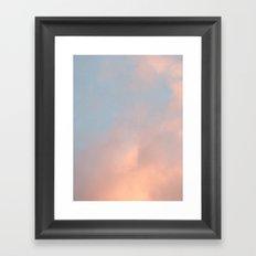 edinburgh sky 2 Framed Art Print