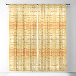 Satin Shibori Yellow Sheer Curtain