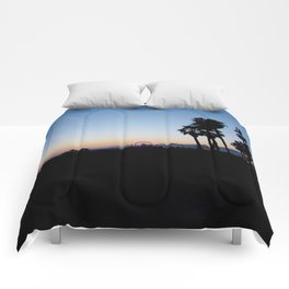 Santa Monica Pier California Comforters