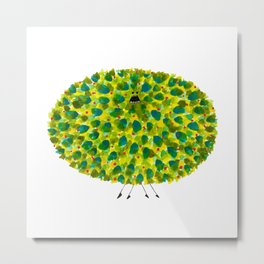 Poofy Pineapple Metal Print