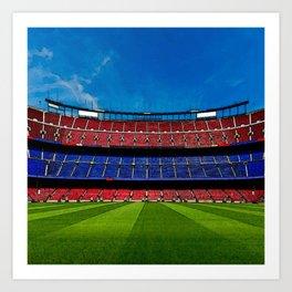 barcelona stadium Art Print