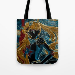 Usagi and the Starry Night Tote Bag
