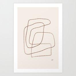 YOKO - Line Art Drawing Art Print