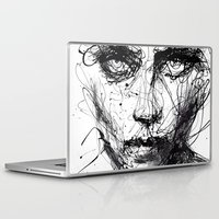 agnes Laptop & iPad Skins featuring In trouble, she will. by agnes-cecile